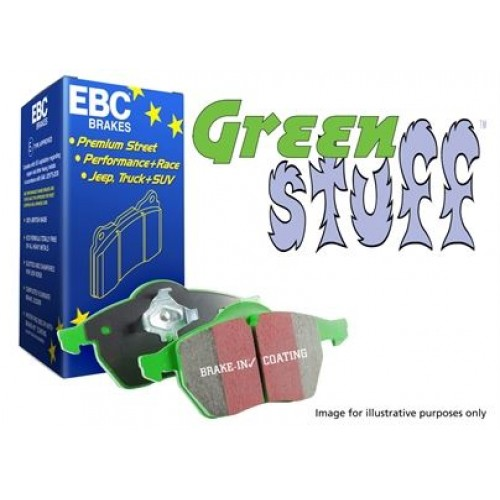 EBC Green Stuff High Performance Front Brake Pads for Defender 110 from 1986 to 2015