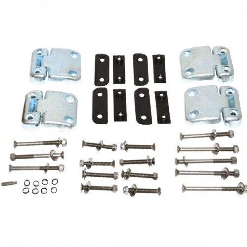Defender 2nd row door hinge kit with Stainless Steel fixings