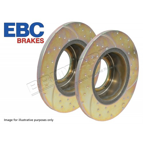 EBC Performance Brake Discs (Pair) DA4165 Defender Fronts-Solid