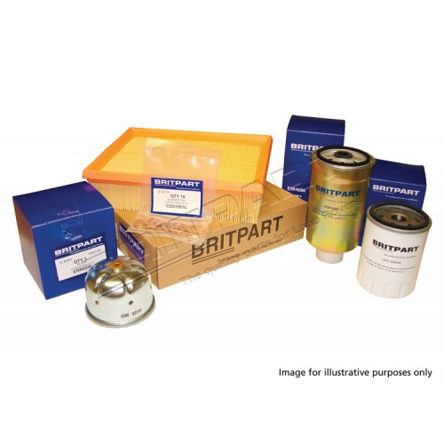 Defender Service Kit Tdci 2007 onwards with Paper Cartridge Oil Filter, Essenstials Range