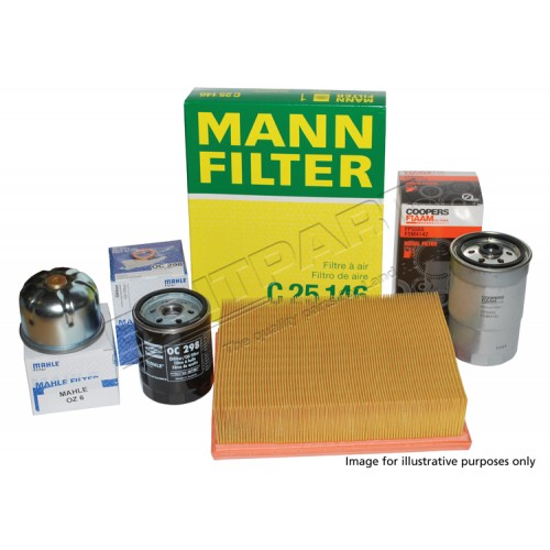 Defender Service Kit Tdci 2007 onwards with Paper Cartridge Oil Filter, OEM Quality