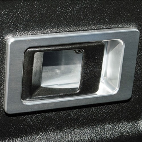 Defender Door Lever Surrounds - Pair Silver