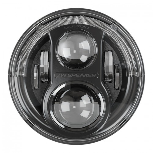 "JW Speaker 8700 EVOLUTION 7"" Black Headlights LHD"