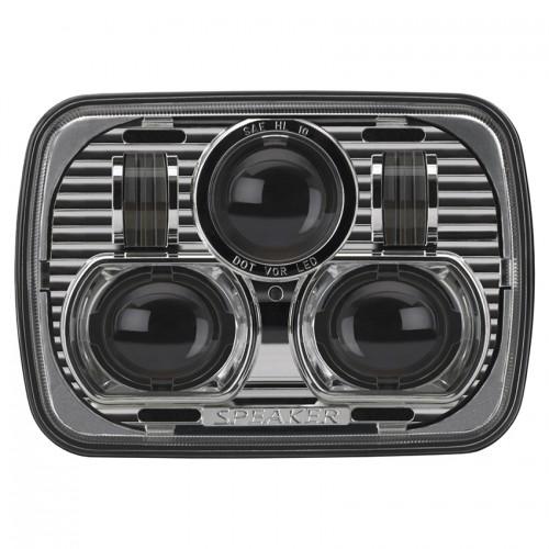 "JW Speaker 8900 EVOLUTION 7"" x 5"" Chrome Headlights PAIR RHD"