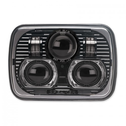 """JW Speaker 8900 EVOLUTION 7"""" x 5"""" Black Headlights PAIR LHD"""