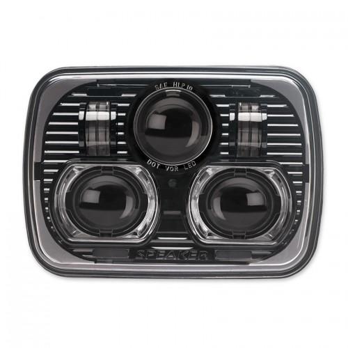 "JW Speaker 8900 EVOLUTION 7"" x 5"" Black Headlights PAIR RHD"
