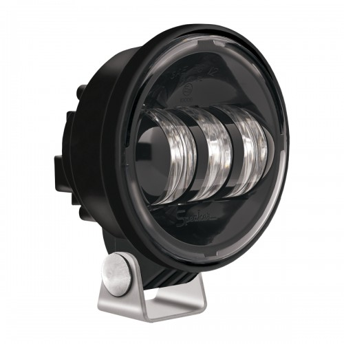"JW Speaker LED Fog Lights 6150 J 4"" Round Pedestal Mount Black"