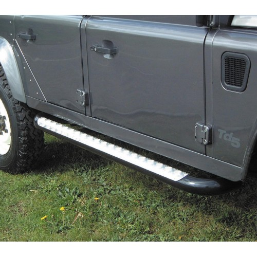 110-sw-side-step-raider-type-bar-silver-chequer-plate