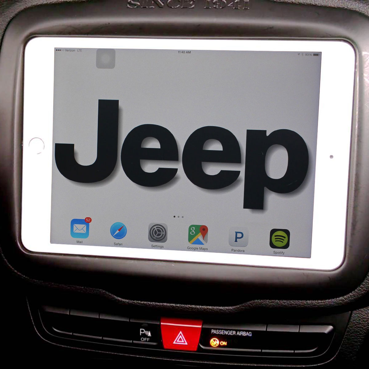 Jeep iPad Dashmount