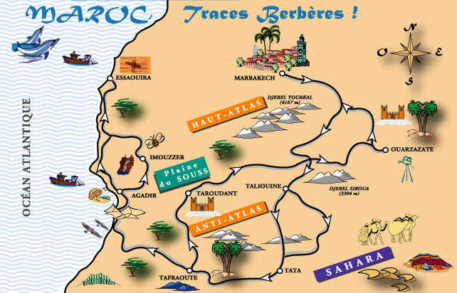 Morocco-Map-Traces-Berbers