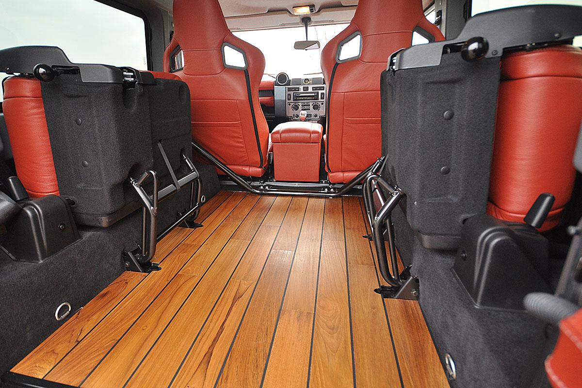 Defender 90 with unique interior