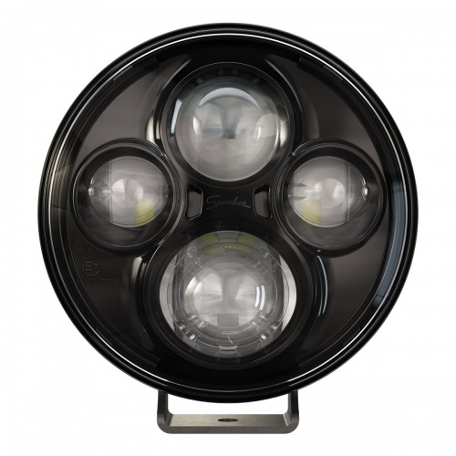 """TS4000 7"""" ROUND LED DRIVING LIGHT 12 / 24 V ECE APPROVED X 2"""